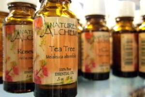 Tea tree oil in the bottle